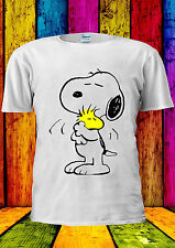 Snoopy PEANUTS Cartoon Happy Cute T-shirt Vest Tank Top Men Women Unisex 415