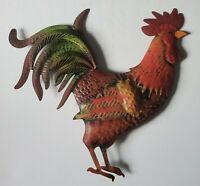 French Country Rooster Chicken Metal Wall Hanging Sign Kitchen Farm Home Decor