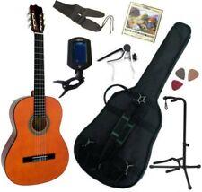 Pack Guitare Classique 4/4 (Adulte) Gaucher Avec 7 Accessoires (nature)