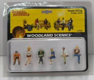 Woodland Scenics A2759 O Seated People Figures (Pack of 6)