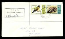 SOLOMON ISLANDS 1979 REGISTERED TARO...BIRD + SHELLS FRANKING 26c