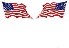 USA American Flags 1 Pair Motor Cycle Helmet Decal Stickers Made in USA FLG16