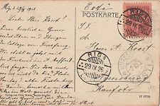 Stamp 1926 Latvia 15s definitive on postcard sent RIGA to Arensburg Estonia