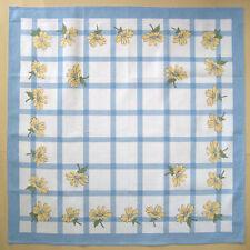 Tischdecke Serviette Gänseblümch Quadrat Baumwolle 90 x 90 cm brandneue blau