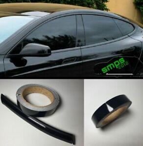 Gloss Black De-chroming Vinyl Tape Premium Beltline Specialist Kit 12mm x 10m