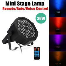 36W 36 Led Par Lights Lamp Us Plug For Club Dj Party Stage Dmx