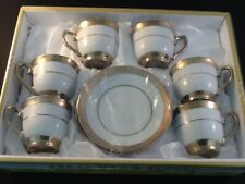 3 oz Espresso coffee.12 pc Cup and Saucer Set Tea 704 Gold  3oz ☕️ Gift Boxed