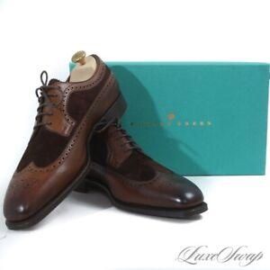 NIB $2165 Edward Green England Oak Mink Harrogate 888 Last Wingtip Shoes 8.5 9