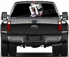 JOKER- Pick-Up Truck Perforated Rear Windows Graphic Decal, Window Graphic Decal