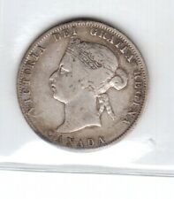 1872 H CANADA QUARTER 25 CENT SIVER QUEEN VICTORIA