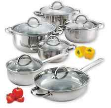 Cooking Sets Pots And Pans Restaurant Stainless Steel Best 12 piece Stock Pot