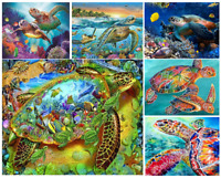 5D DIY Full Drill Diamond Painting Kits Art Crafts Home Decor Sea Turtle Story