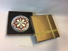 Make Up Compact Pocket Mirror in Gift Box. BNIB. Stunning Diamanté Gift & travel