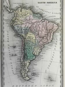 South America Colombia Brazil La Plata Falkland Islands 1832 Carey & Lea map