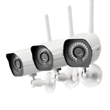 Zmodo 1080p CCTV Wireless Security Bullet IP Camera System(3 Pack)Outdoor IR Cut