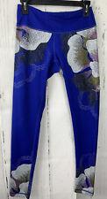 Zella Size SP Blue Floral Athletic Leggings