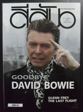 2016 David Bowie Eagles Glenn Frey The Corrs Thai Music Magazine Book Mega Rare!