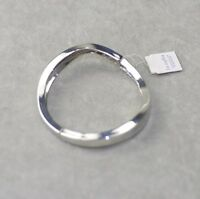 lia sophia signed jewelry curved polish bracelet stretch bangle texture simple
