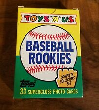 TOPS-TOYS ARE US-BASEBALL ROOKIE CARD SET-33 SUPERGLOSS PHOTO CARDS-c1989