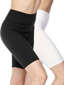 2 Pack Women's 3 inch High Waistband Biker Leggings Bike Shorts Yoga Fitness