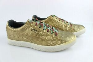 Sneakers Collector PUMA Clyde Tommie Smith Gold Leather T 41 Very Good Condition