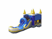 Commercial Grade 13' x 30' Skyline  Wet Dry Combo Bounce House Waterslide Games