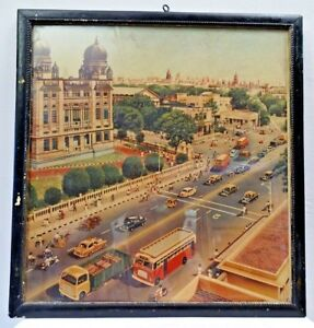 BOMBAY CITY CINE VINTAGE LITHOGRAPH PRINT BEAUTIFUL COLLECTIBLES HISTORICAL RARE