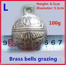 """✔ ✔ ✔ 2pcs. cow horse sheep goat bell copper high quality. Size """"L"""" ✔ ✔ ✔"""