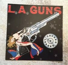 L.A. GUNS Promo Poster Cocked & Loaded 12x12 Record Store Vintage 1989 MINT