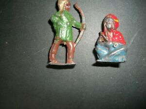 BRITAINS? AND ONE UNKNOWN 54MM HOLLOW CAST INDIANS