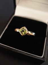 Peridot Wedding Yellow Gold Fine Rings