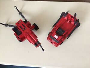 Action Force Red Shadow Vehicles. Laser exterminator and Shadow Trak