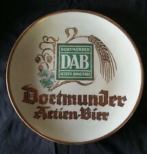 Rare DORTMUNDER DAB ACTIEN-BRAUEREI German Beer Pottery Charger Wall Plate