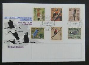 Rhodesia 1971 Set Native Birds sg 459-64 First Day Cover