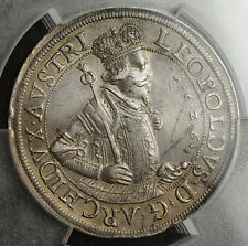 1626, Austria, Archduke Leopold V. Large & Heavy Silver 2 Thaler Coin. PCGS AU+