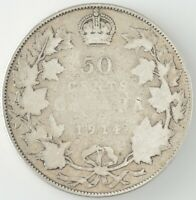 1914 Canada 50 Cents G4 (Key date)