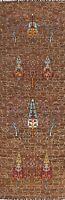 Geometric Traditional Bakhtiari Oriental Runner Rug Hand-knotted Hallway 3'x10'