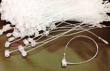 "30 Lot 5"" SNAP LOCK Tie Pin Security Loop Clear Plastic Price Tags FASTENERS"