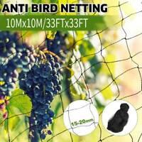 33x33FT Anti Bird Netting Garden Poultry Aviary Game Net Nylon Mesh Screen