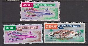 GUINEA 1960 MINT H SC #C24-6 OLYMPICS AIRMAILS OVERPRINTS CAT $71.75