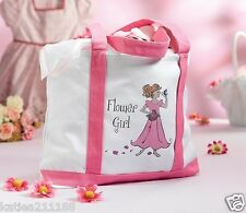 Wedding Flower Girl Pretty Pink in Tela da Viaggio Tote Bag Borsa regalo Favore