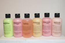 LOT X 6 Philosophy Assorted Scented Bathy Body & Hair Wash Bundle 6 oz. Bundle