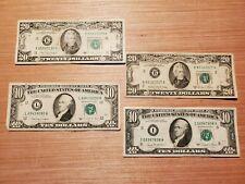 1981 A $20, 1988 A $20 twenty dollar USA bill. + $10 1988 A, 1981 $10. Old...