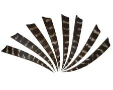 "50pcs Archery 5"" Natural Turkey Feathers Arrow Fletching Right Wing Shield Shape"