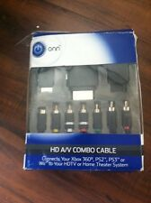 ONN HD A/V Combo Cable Connects Your Xbox 360, PS2,PS3 Or WII To Your HDTV