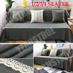 1 2 3 4 Seat Slipcover Sofa Couch Cover Recliner Protector Mat Machine Washable