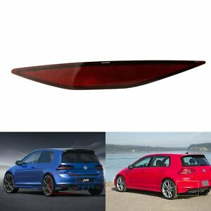 For 12-16 VW Golf MK7 N/S Left Rear Bumper Reflector Red Tail Stop Lamp No Bulb