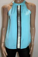 Wayne Cooper Brand Aqua Beaded Detail Tank Top Size 8 BNWT #SF47