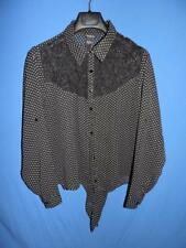 Torrid Plus Size 0 Sheer Black White Polka Dot Shirt Floral Lace Top Tie Front