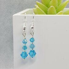 Elegant Crystal Bead Dangly Earrings ~ Work/Everyday/Simple ~ Various Colours